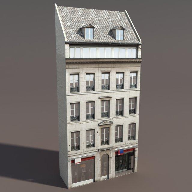 Apartment House 111 Low poly 3d Model1 3D Model