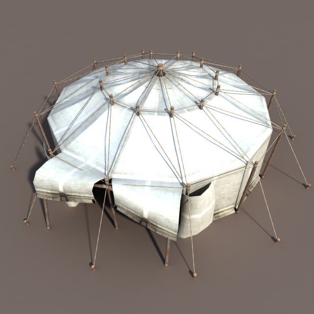 Circus Tent White 3D Model