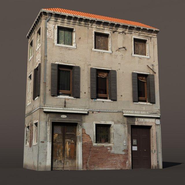 Apartment Building Venice Low Poly 3D Model in Buildings ...