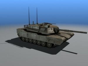 3D Model Abrams M1 tank