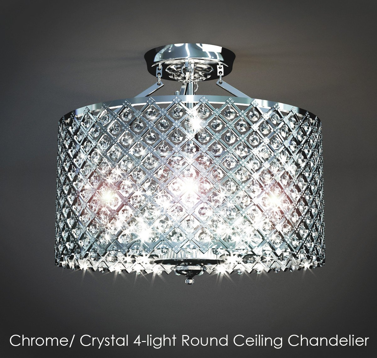 Chromecrystal 4light Round Ceiling Chandelier Model In Lights Export