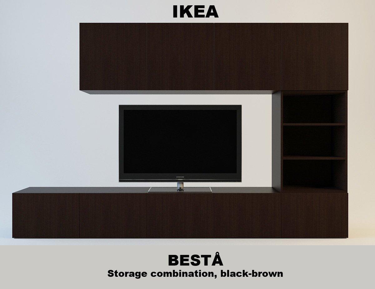 Besta 49898124 Ikea 3D Model In Living Room 3DExport