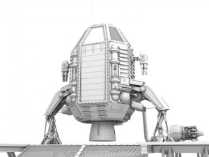Capsule landing pod