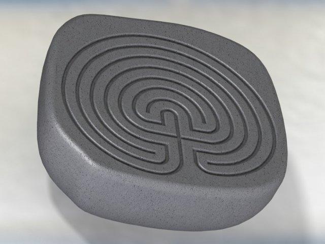 Classic celtic maze 3D Model