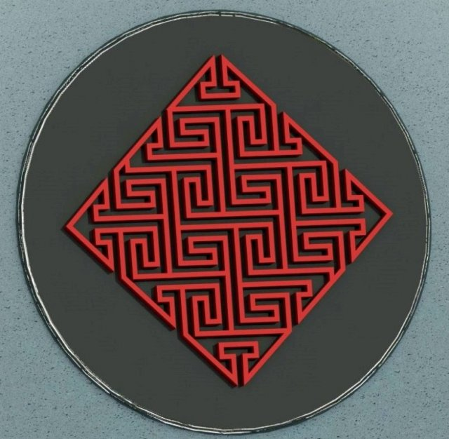 Celtic maze 3D Model