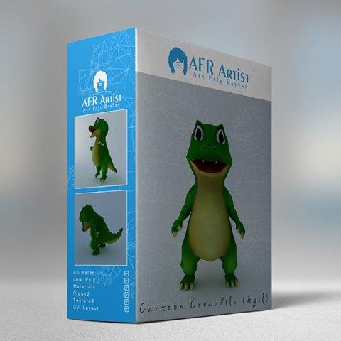 Cartoon Crocodile Agil 3D Model