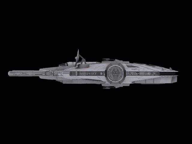 Faucon millenium star wars 3D Model