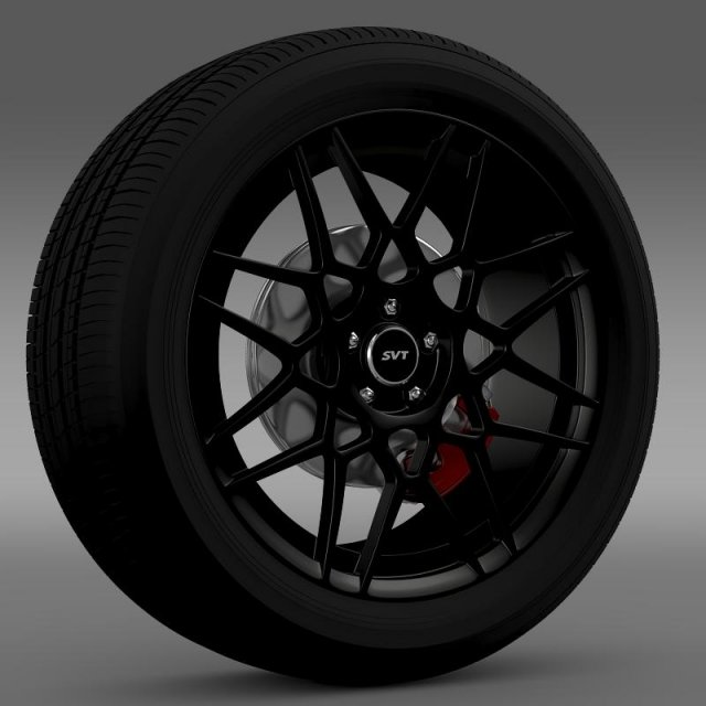 Ford Mustang Shelby GT500 2013 wheel 3D Model