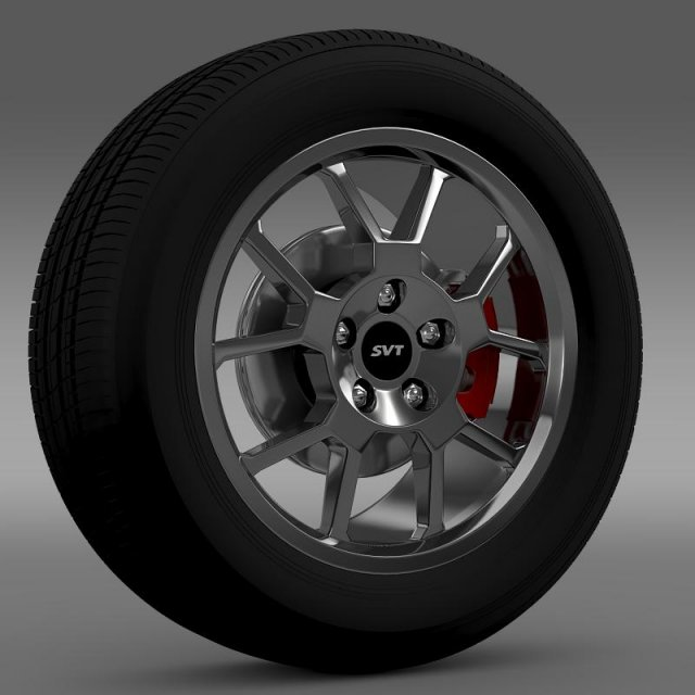 FordMustang GT500 Shelby 2007 wheel 3D Model