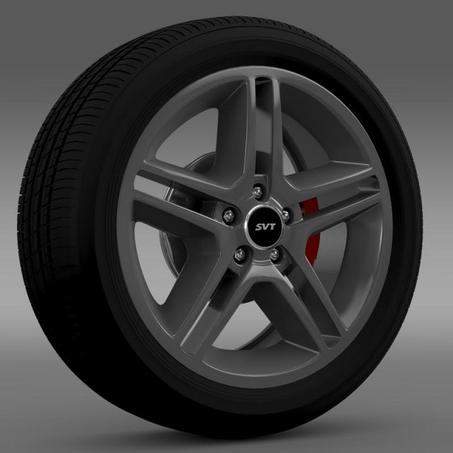 FordMustang Shelby GT500 2010 wheel 3D Model