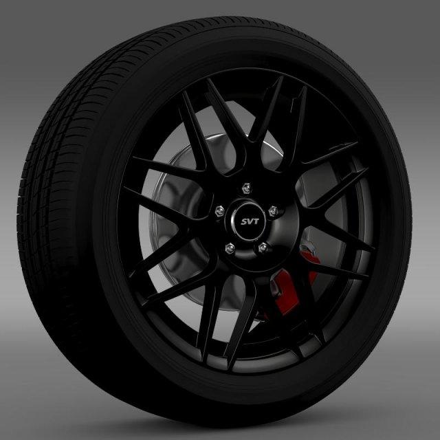 FordMustang Shelby GT500 Convertible 2011 wheel 3D Model