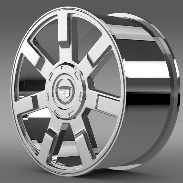 Cadillac Escalade esv 2wd1 rim 3D Model