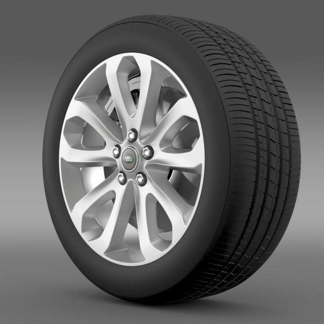 RangeRover Vogue SDV8 wheel 3D Model