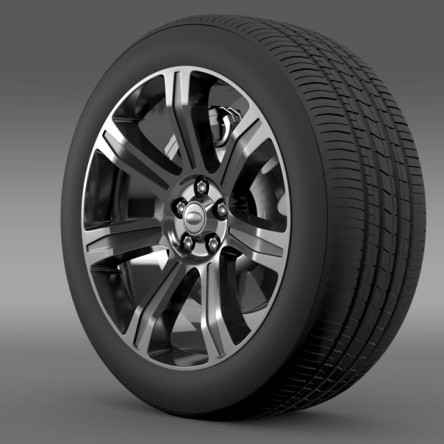 RangeRover Autobiography black wheel 3D Model