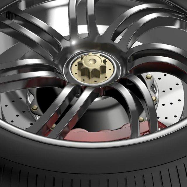 Pagani Huayra wheel 3D Model