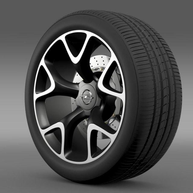 Opel Insignia OPC Concept wheel 3D Model