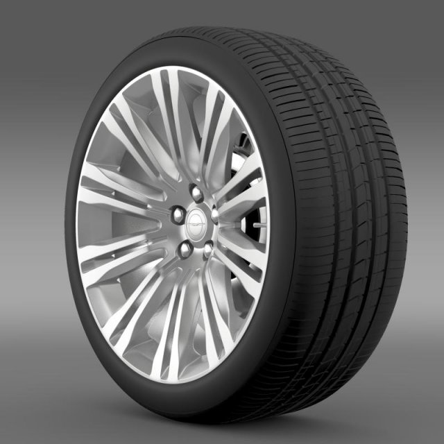 Chrysler 300C 2012 wheel 3D Model