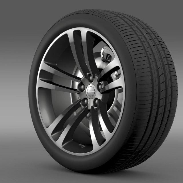 Chrysler 300 SRT8 Core wheel 3D Model