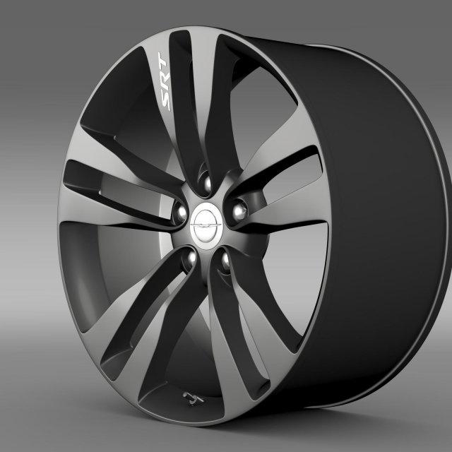 Chrysler 300 SRT8 Satin Vapor  rim 3D Model