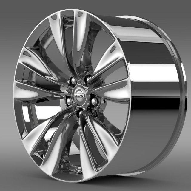 Nissan Fuga rim 3D Model