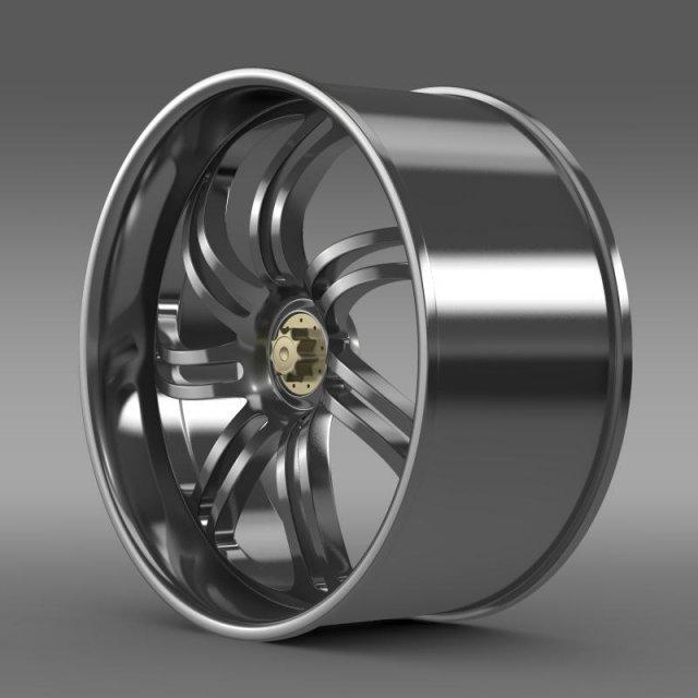 Pagani Huayra Prototype rim 3D Model