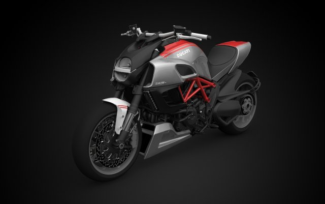 2012 Ducati Diavel Carbon 3D Model