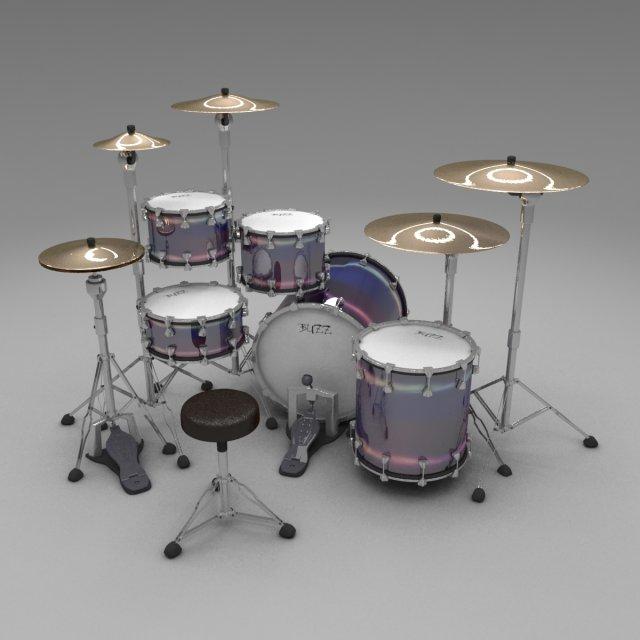 Drum kit buzz 3D Model