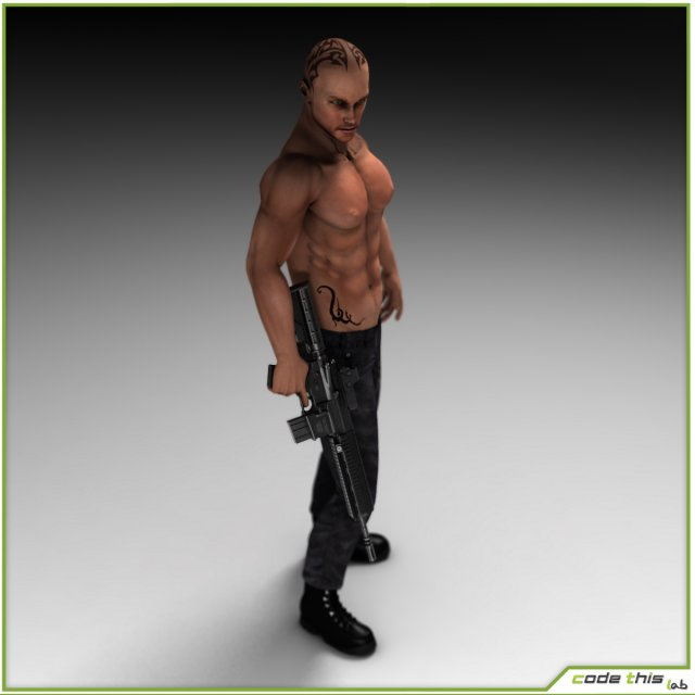 Armed Anarchist 3D Model