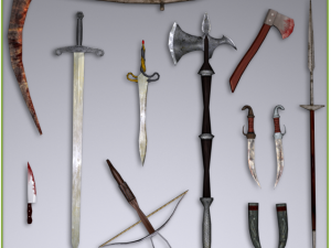 Low Poly Medieval Weapons