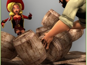 Package Male and Female Pirates Rigged