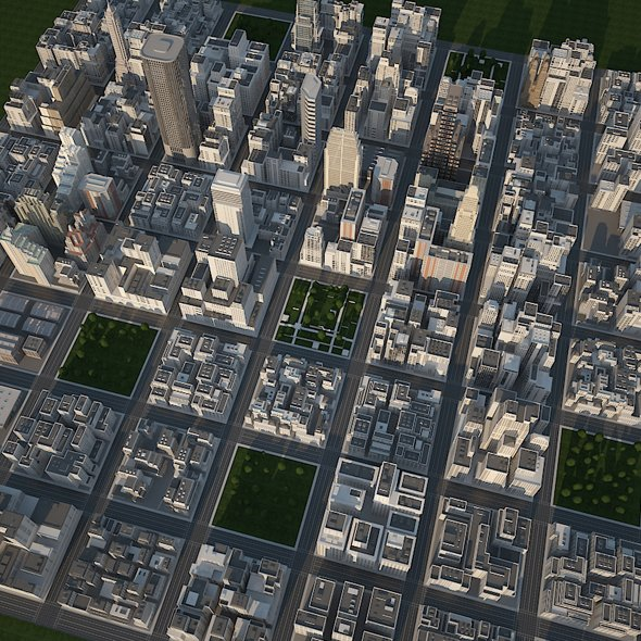 Big Realistic City 3D Model in Cityscapes 3DExport