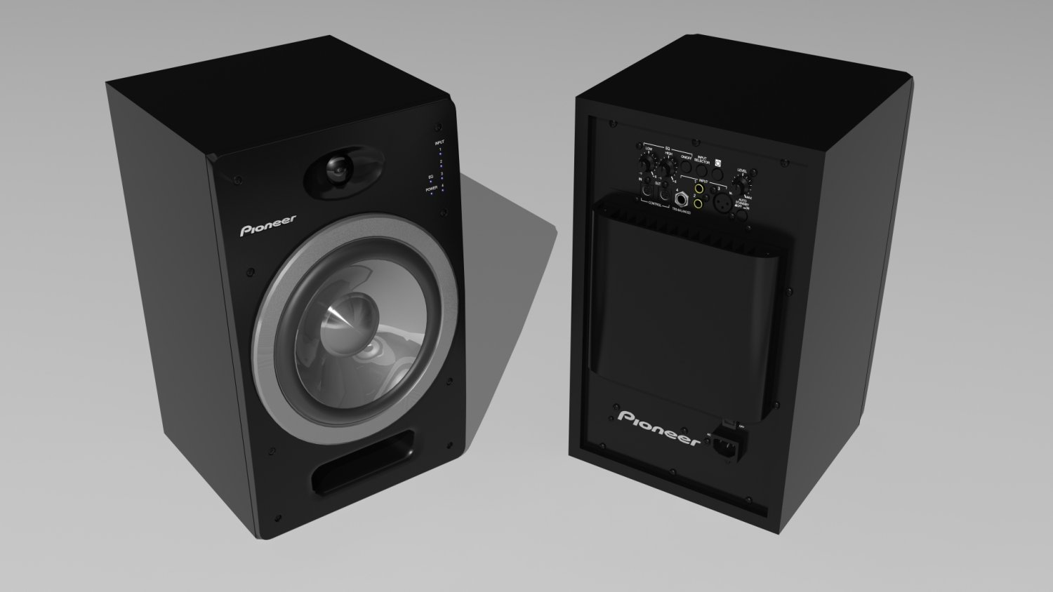 Pioneer SDJ05 Speaker 3D Model in Audio 3DExport
