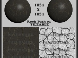 Rock Path 01 Toon Tileable Texture