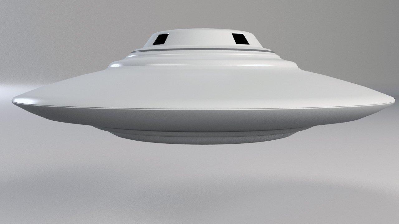 Ufo Clic Flying Saucer Vray Model