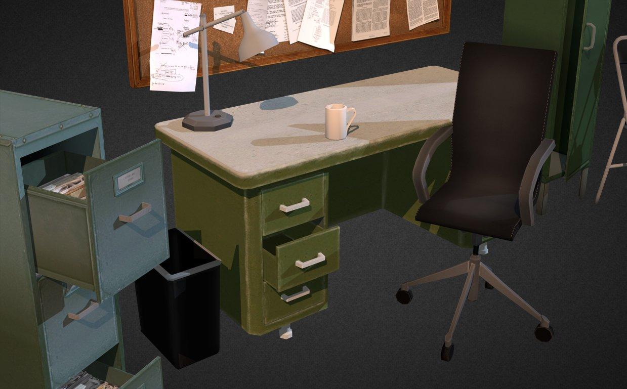 Office Interior Props 3D Model