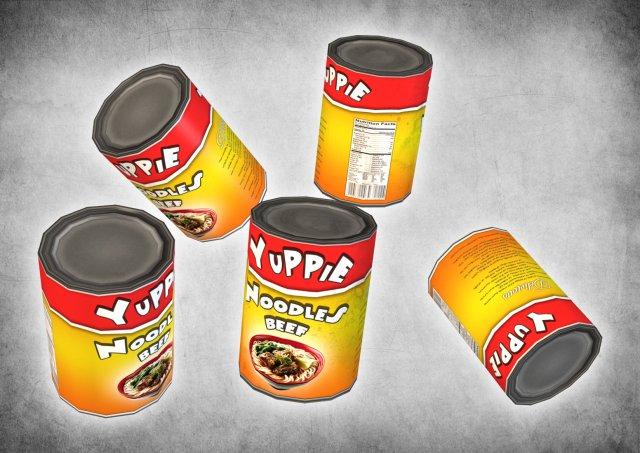 Canned Noodles 3D Model