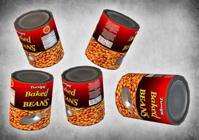 Canned Beans 3D Model