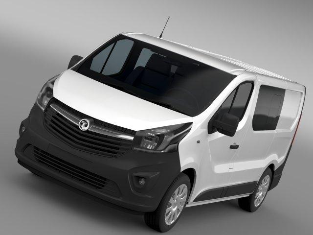 Vauxhall Vivaro MultiVan EcoFlex 2015 3D Model