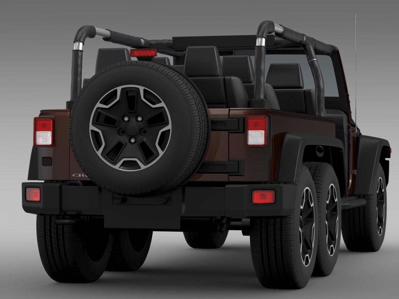 Jeep Wrangler For Sale Ma >> Jeep Wrangler Rubicon 6x6 2016 3D Model in SUV 3DExport