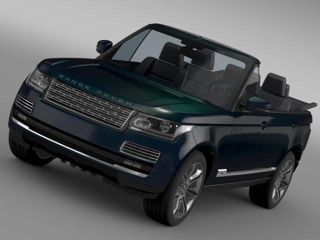 Range Rover Autobiography Black LWB Cabrio L405 20 3D Model