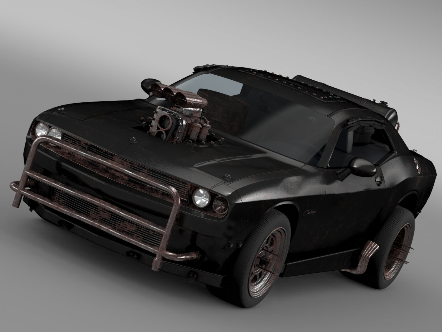 Mad Max Dodge Challenger >> Mad Max Fight Interceptor Dodge Challenger 2015 3d Model In