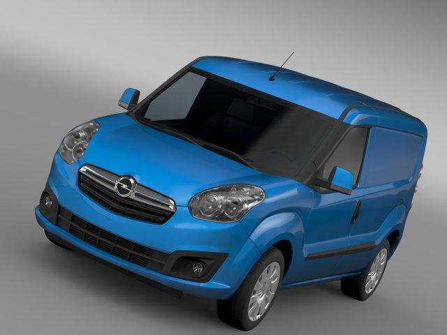 Opel Combo SWB Cargo 2015 D 3D Model