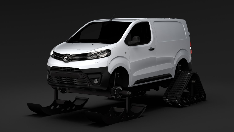 Toyota toyota proace : Toyota ProAce Van Ski 2018 3D Model in Concept 3DExport