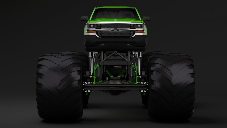 Monster Truck Chevrolet Silverado Modelo 3D in Conceptual 3DExport