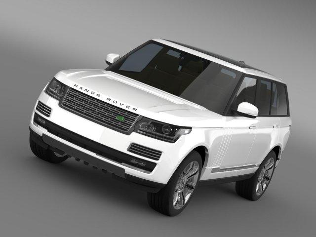 Range Rover Autobiography Black L405 2014 3D Model