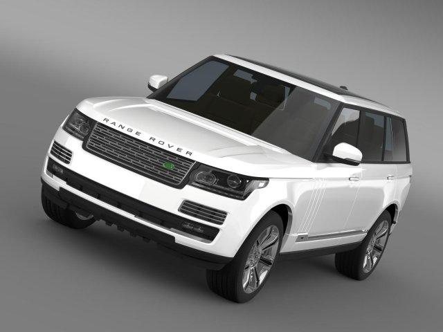 Range Rover Autobiography Black LWB L405 3D Model