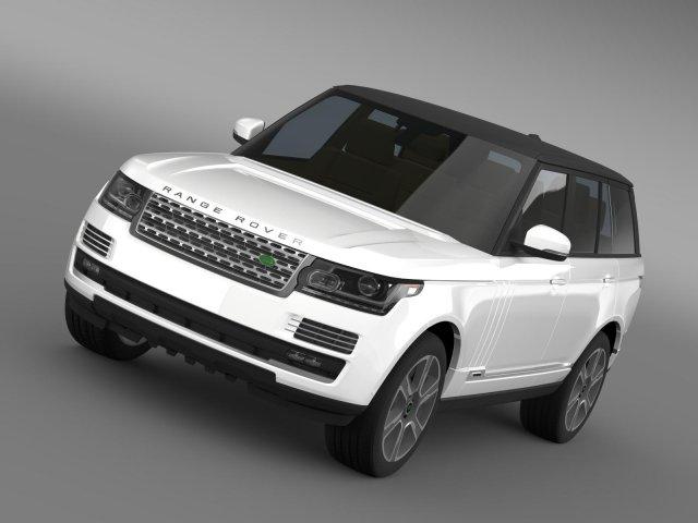 Range Rover Autobiography Hybrid L405 3D Model