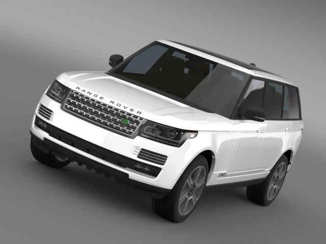 Range Rover Hybrid LWB L405 3D Model