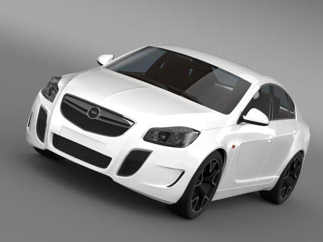 Opel Insignia OPC 2009 2013 3D Model