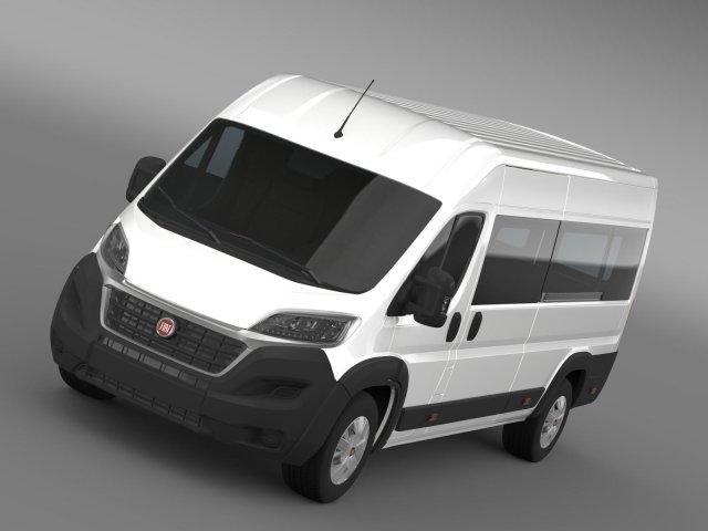 Fiat Ducato Maxi Minibus 2015 3D Model